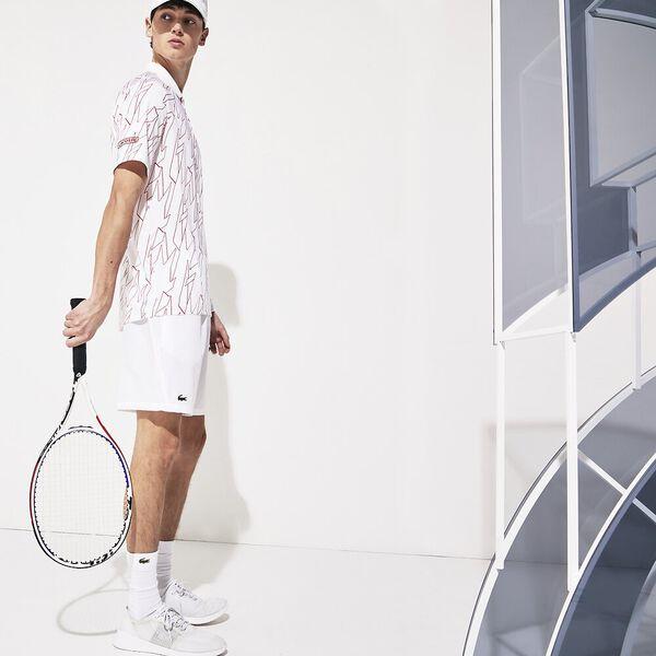 Men's Novak Djokovic Australian  Open Stretch Taffeta Short, BLANC/BLANC, hi-res