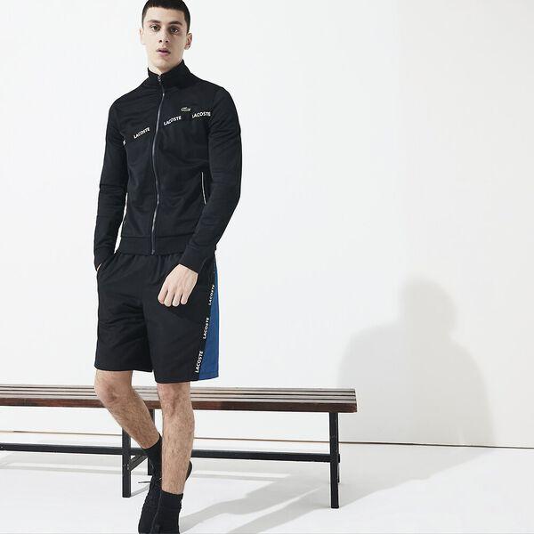 Men's Tennis Run Sweat With Taping, BLACK/BLACK-BLACK, hi-res
