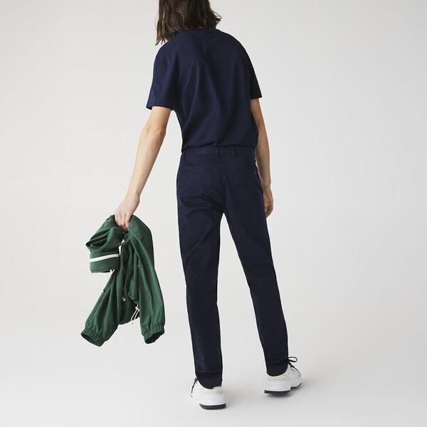 Men's Slim Stretch Chino, NAVY BLUE, hi-res