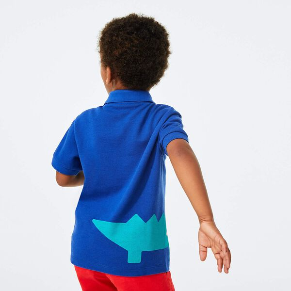 Boy's Crocodile Print  Polo Shirt, IONIENNE, hi-res