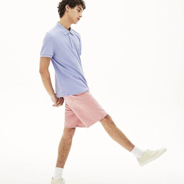 Men's Lacoste Cotton Piqué Polo Shirt, PHOENIX/PURPY, hi-res