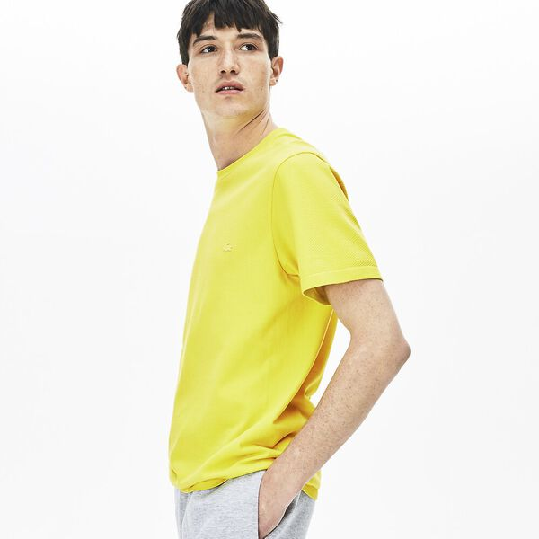 Men's Seamless Slim Fit Tee, MIDDAY YELLOW, hi-res