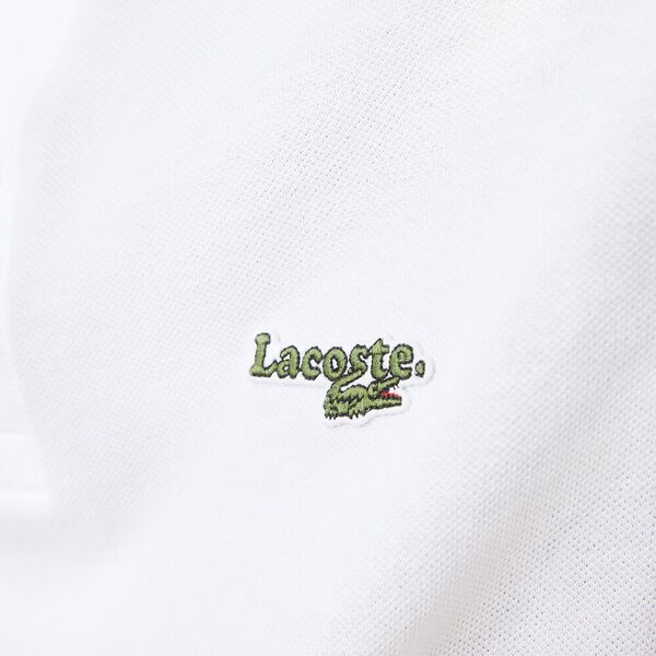 Men's Regular Fit Polo With Badge, WHITE, hi-res