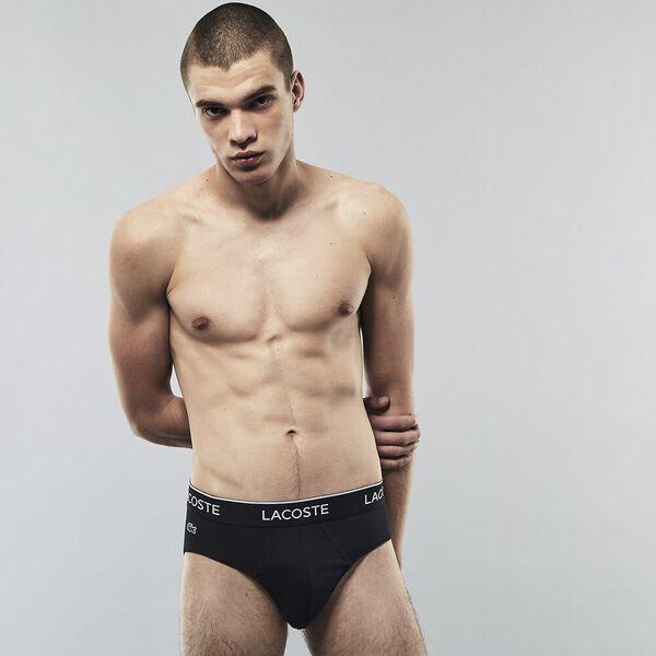 Men's Briefs 3 Pack, BLACK/WHITE-SILVER CHINE, hi-res