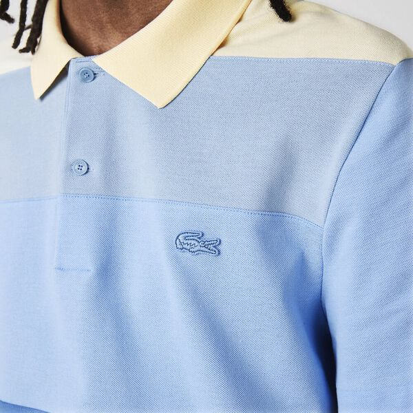 Men's Regular Fit Fresh Colorblock Cotton Piqué Polo, KING/TURQUIN BLUE-NATTIER, hi-res