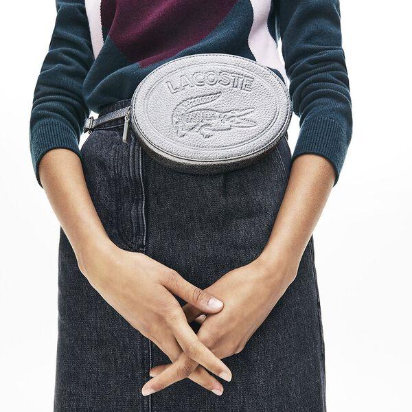 Women's Croco Crew Waist bag, SILVER, hi-res