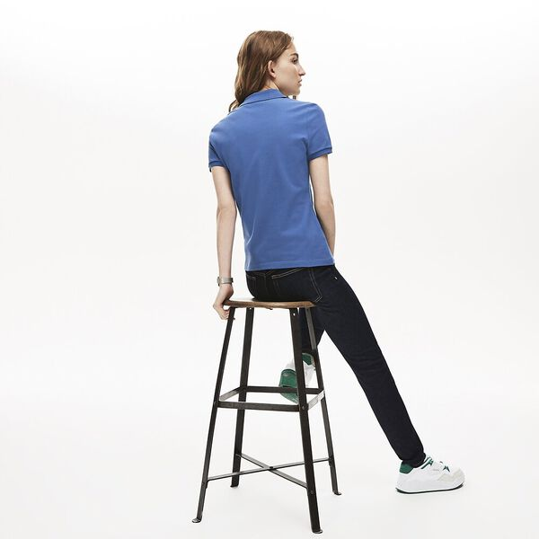 Women's 5 Button Slim Stretch Core Polo, KING, hi-res