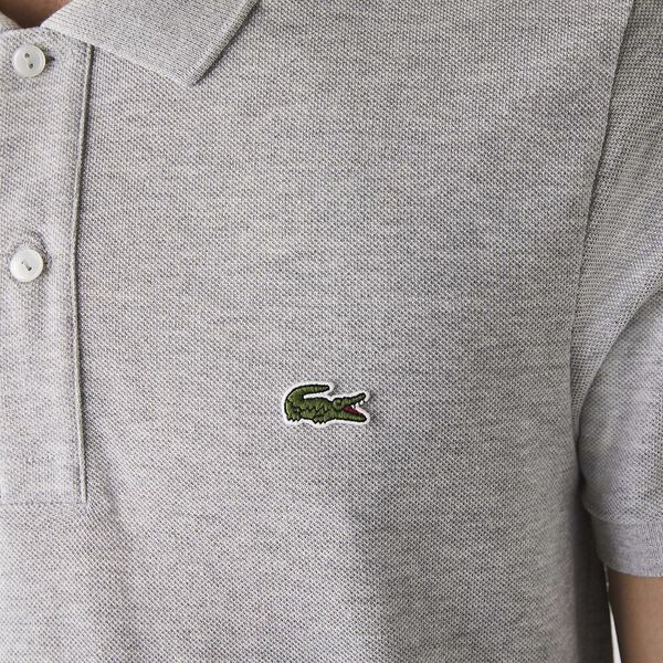 Men's Slim Fit Polo, SILVER CHINE, hi-res