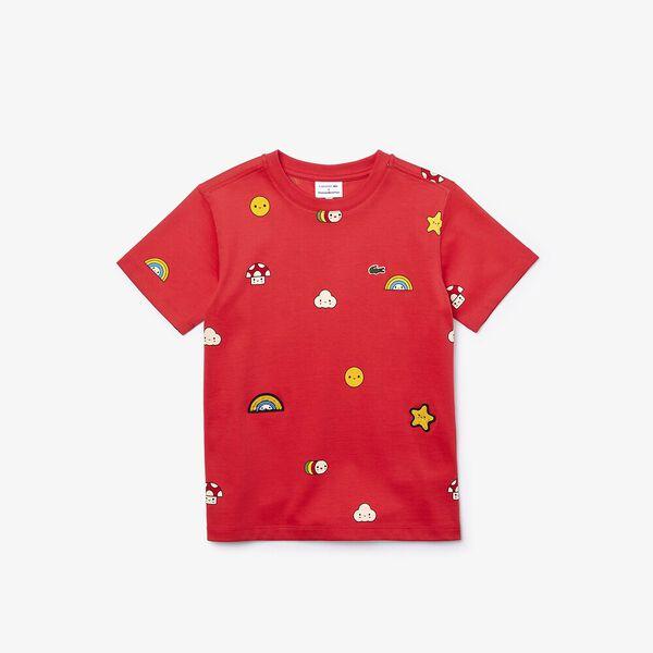 Boys' Lacoste x FriendsWithYou Print Cotton T-shirt