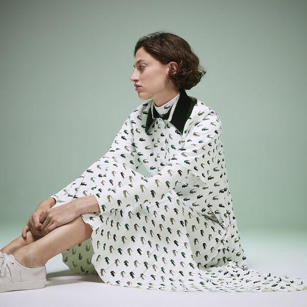 Women's Fashion Show Iconics All Over Print Crocodile Dress, MULTICOLOUR/GREEN, hi-res