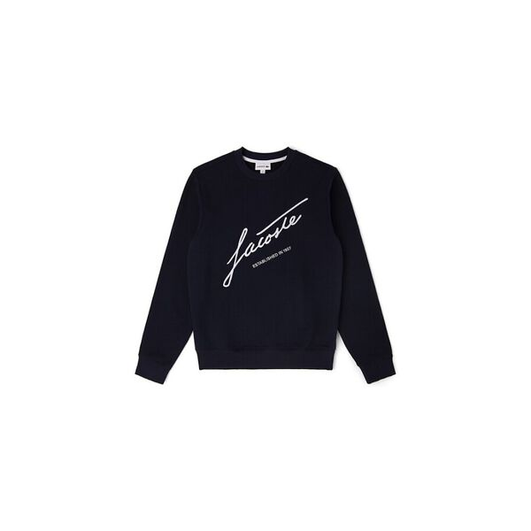 Men's Signature Print Crew Neck Sweatshirt
