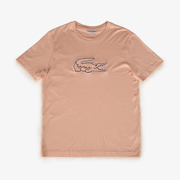 Men's Cotton Jersey Crocodile Patch Crew Neck T-shirt