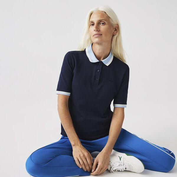 Women's Slim Fit Colored Neck Polo