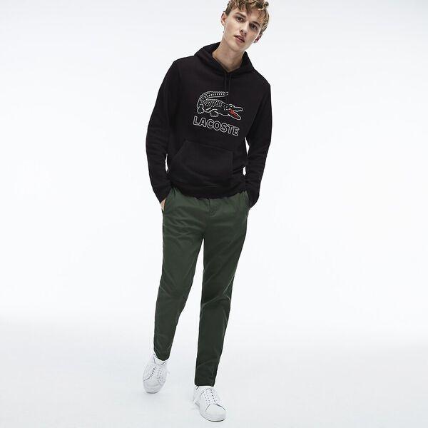 Men's Lacoste Croc Pullover, BLACK, hi-res