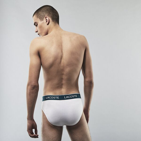 Men's Briefs 3 Pack, BLACK/WHITE-SILVER CHINE, hi-res