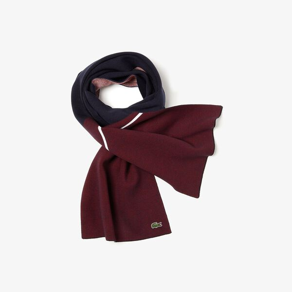Unisex Made In France Jacquard Pique Scarf