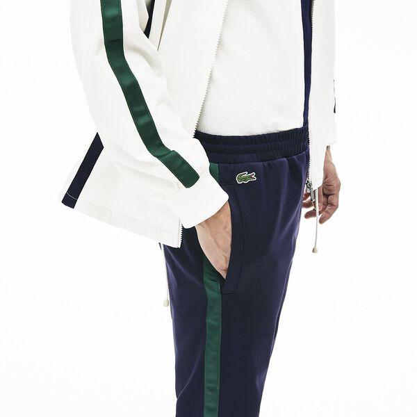Men's Heritage Cotton Trackpants, MARINE SOMBRE/VERT, hi-res