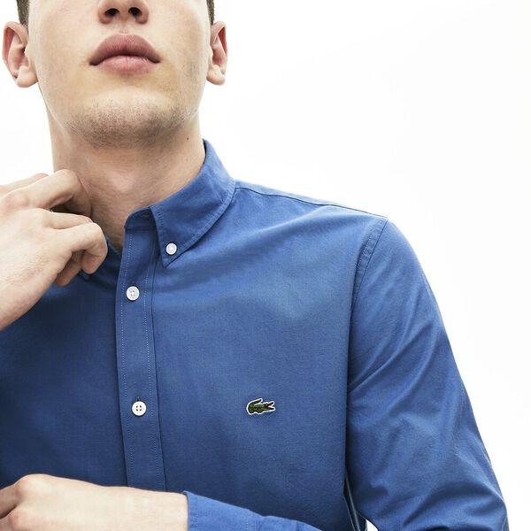 Men's Classic Long Sleeve Slim Stretch Oxford Shirt, KING, hi-res