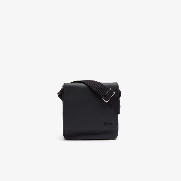 Men's Classic Flap Xover Bag Black, BLACK, hi-res