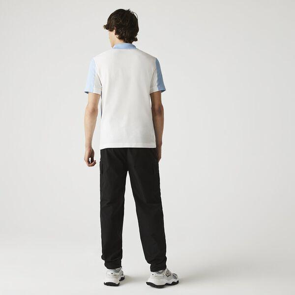 Men's Heritage Colorblock Polo, FLOUR/CREEK, hi-res