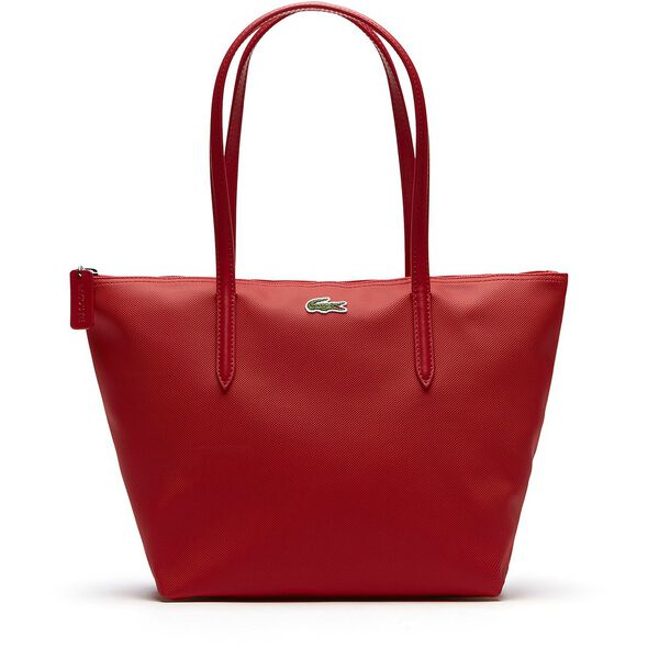 WOMEN'S L.12.12 SMALL SHOPPING BAG, HIGH RISK RED, hi-res