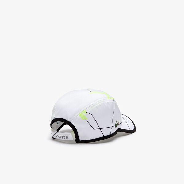 Lacoste SPORT Geometric Print Tennis Cap, WHITE/BLACK-FLUO ZEST, hi-res