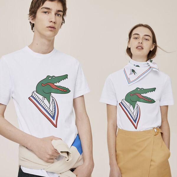 Unisex Lacoste x Jean-Michel Tixier Design Cotton T-shirt