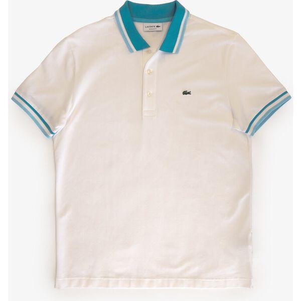 Men's Cotton Piqué Tricolor Details Regular Fit Polo, BLANC/WILLO-BLANC-CICER, hi-res