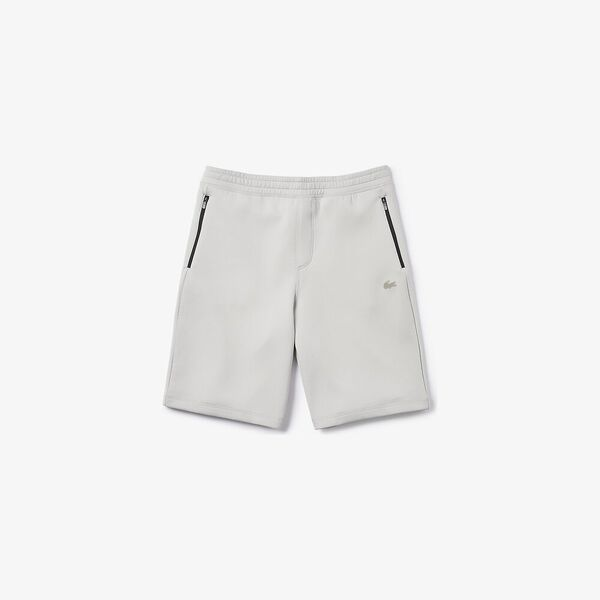 Men's Lacoste Motion Stretch Cotton Bermuda Shorts, NIMBUS, hi-res
