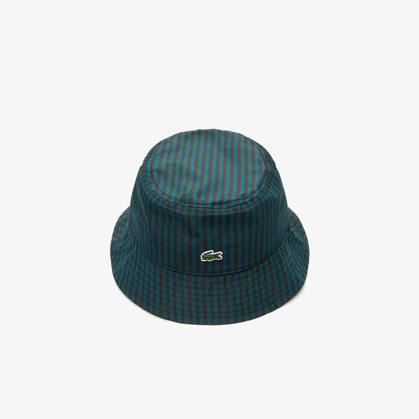 Unisex Lacoste LIVE Striped Hat, NOIR/PIN, hi-res