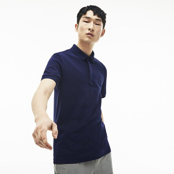 Men's Paris Stretch Polo, NAVY BLUE, hi-res