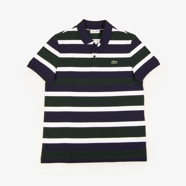 Men's Golden Week Reg Fit Stripe Polo, SINOPLE/WHITE-NAVY BLUE, hi-res