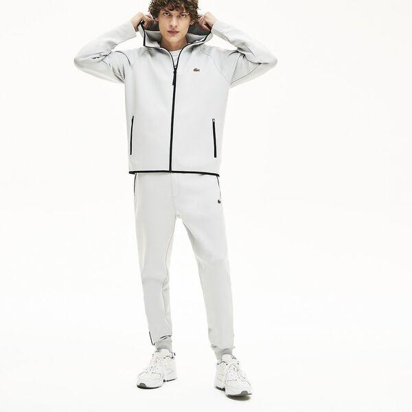 Men's Lacoste Motion Hooded Zip Sweatshirt, NIMBUS, hi-res