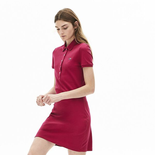 Women's Classic Slim Fit Polo Dress, FAIRGROUND PINK, hi-res