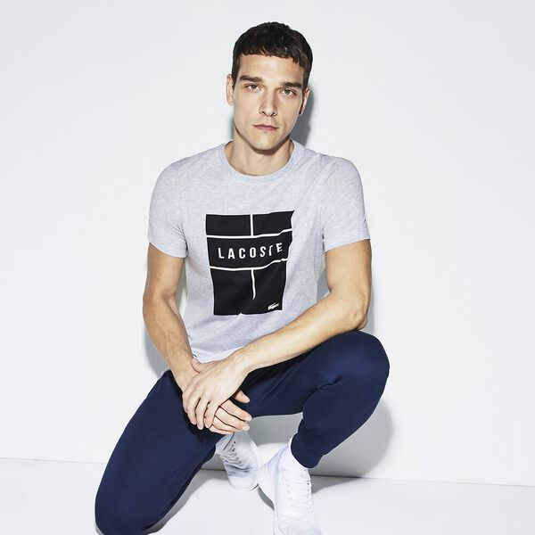 MEN'S TENNIS COURT LOGO TEE