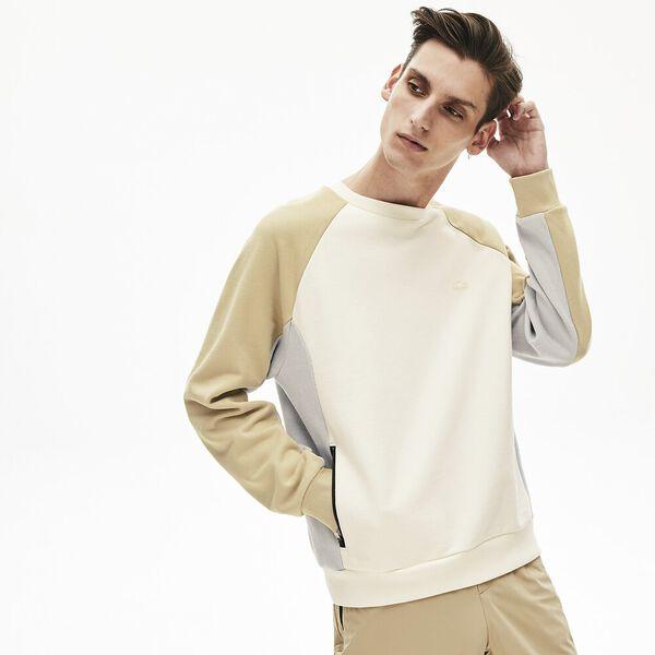 Men's Lacoste Motion Colourblock Crew Neck Sweatshirt