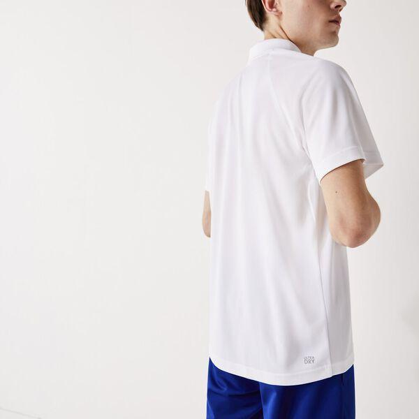 Men's SPORT Breathable Run-Resistant Interlock Polo, WHITE, hi-res