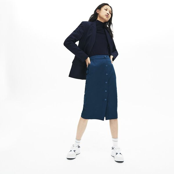 Women's Casual Elegance Cotton Skirt, RAFFIA MATTING, hi-res