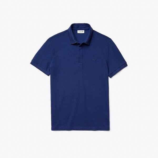 Men's Lacoste Regular Fit Linen And Cotton Blend Polo Shirt, CORRIDA/FARINE, hi-res