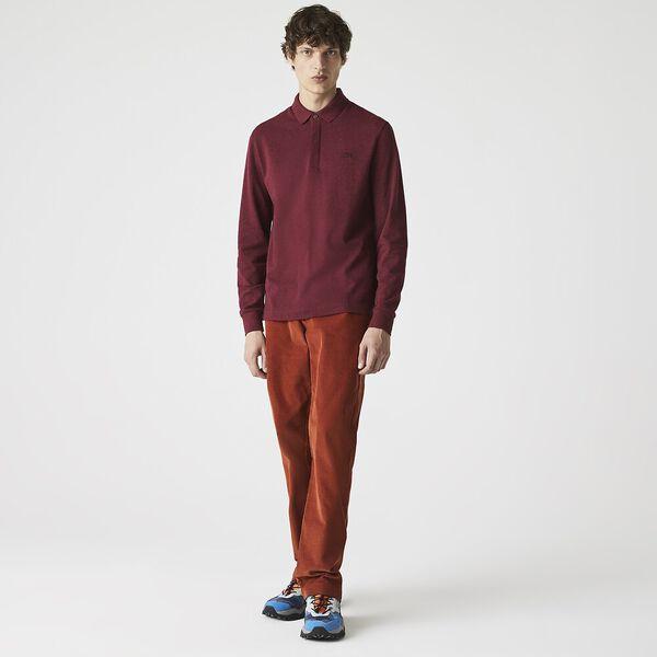 Men's Long-sleeve Paris Polo, VINE CHINE, hi-res