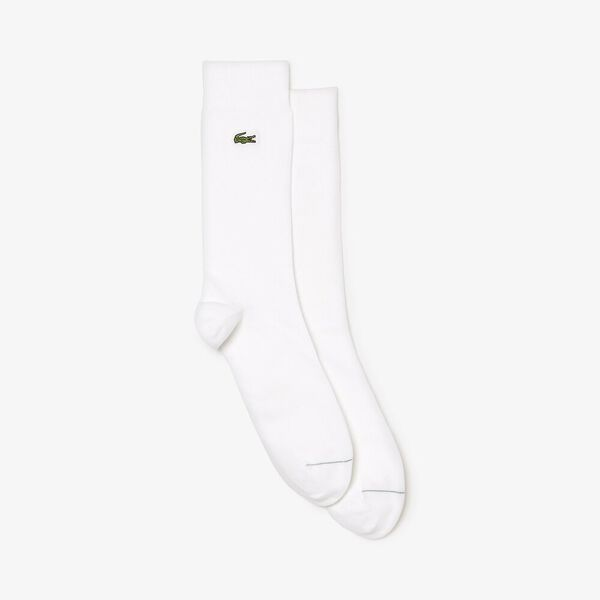 LONG BUSINESS SOCKS, WHITE, hi-res
