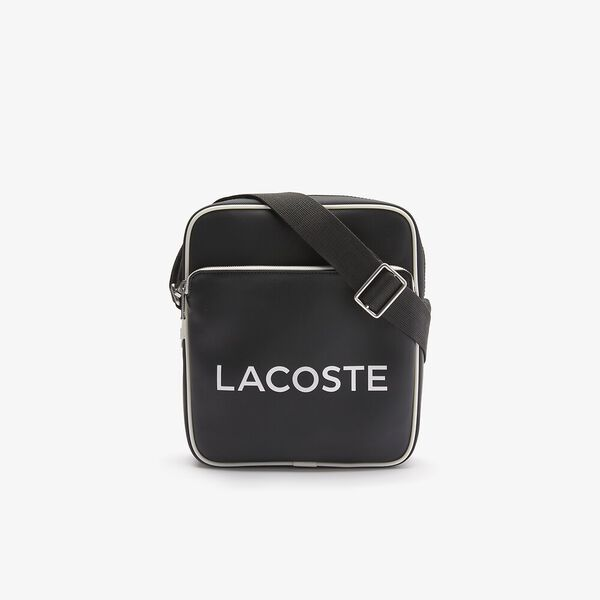 Men's Ultimum Lettered Coated Canvas Crossbody Bag