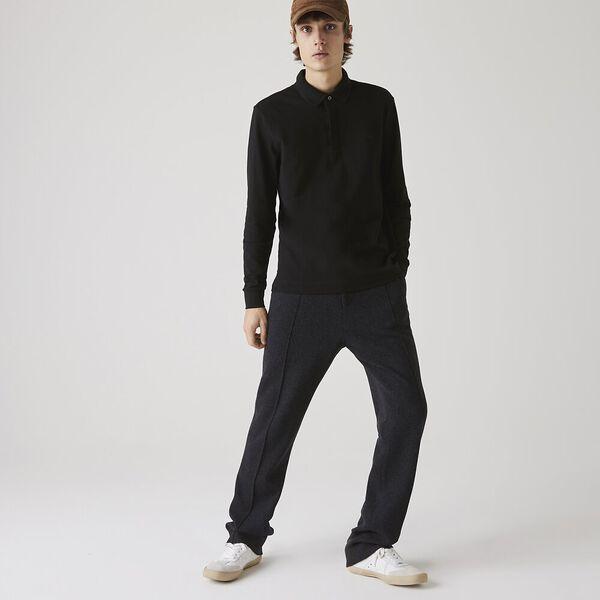 Men's Long-sleeve Paris Shirt, BLACK, hi-res