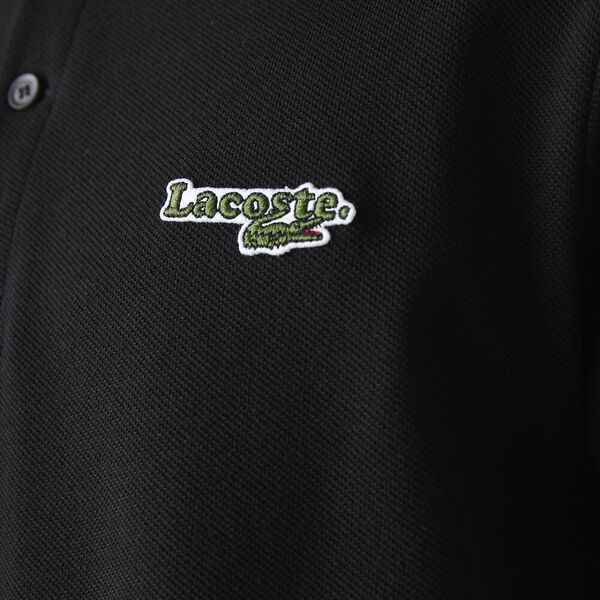 Men's Regular Fit Polo With Badge, BLACK, hi-res