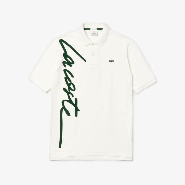 Unisex L!Ive Signature Loose Fit Polo, FLOUR/GREEN, hi-res