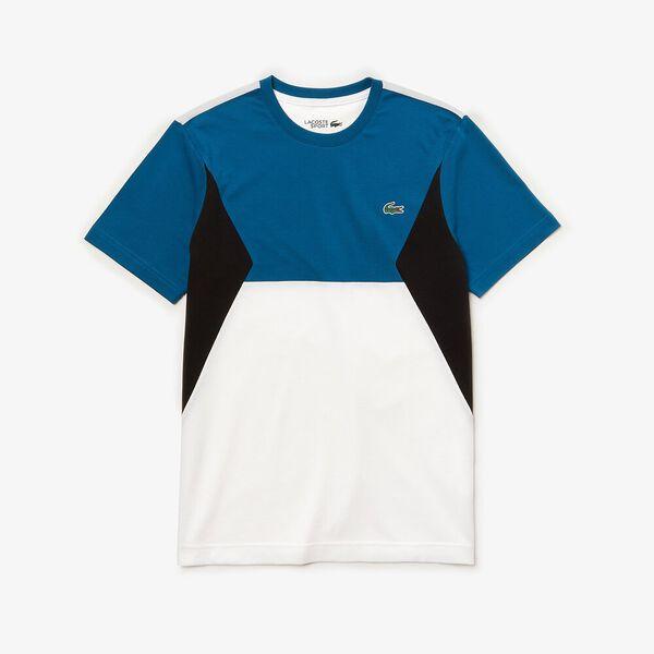 Men's Tennis Super Light Knit Tee, ILLUMINATION/WHITE-BLACK, hi-res