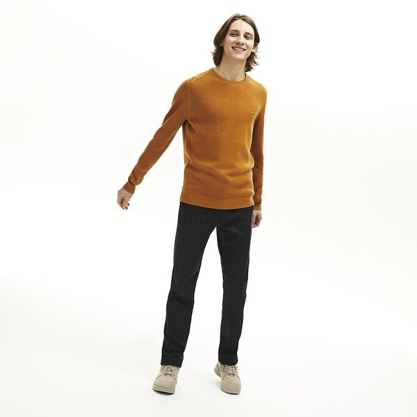 Men's Chic Rib Crew Neck Knit, ENZIAN, hi-res