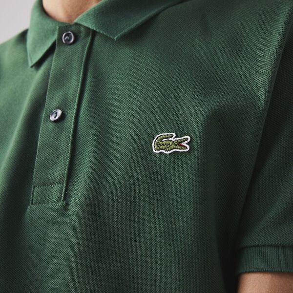 Men's Slim Fit Polo, GREEN, hi-res