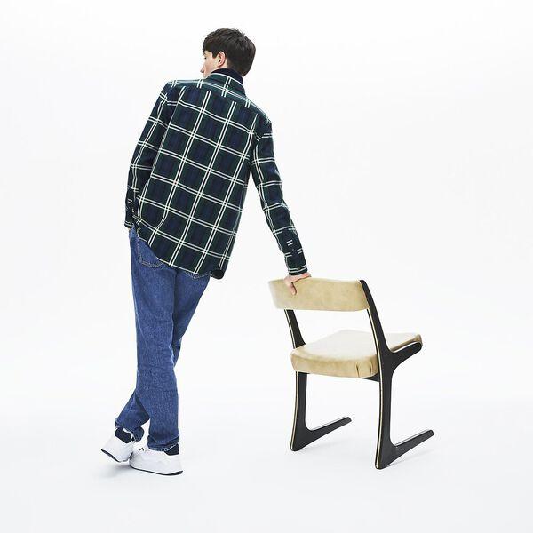 Men's 90S Sportswear Long Sleeve Check Flannel Shirt, BEECHE/SABLER, hi-res