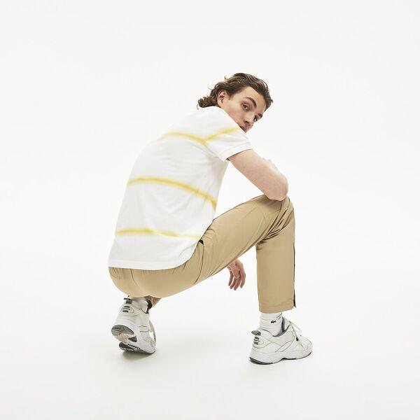 Men's Made in France Regular Fit Cotton Piqué Polo Shirt, BLANC/DABA, hi-res